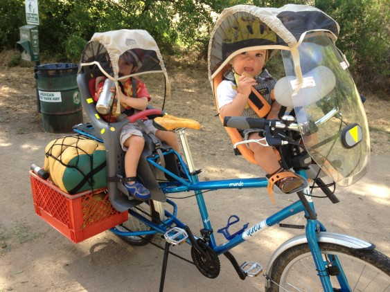 A two-wheeled family mobile!